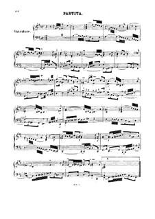Французская увертюра, BWV 831: Клавир by Иоганн Себастьян Бах