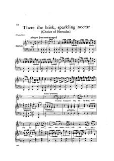 Выбор Геракла, HWV 69: There the brisk, sparkling nectar by Георг Фридрих Гендель
