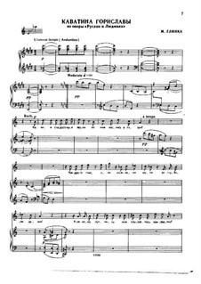 Каватина Гориславы: Для голоса и фортепиано by Михаил Глинка
