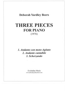 Three Pieces for Piano (1976): Три пьесы для фортепиано (1976) by Deborah Yardley Beers