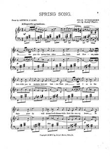 Песни без слов, Op.62: No.6 Весенняя песня, для голоса и фортепиано by Феликс Мендельсон-Бартольди