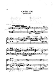 Radamisto, HWV12a: Ombra cara by Георг Фридрих Гендель