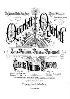 Струнный квартет No.1 соль мажор, Op.44: Партии by Чарлз Виллиерс Стэнфорд