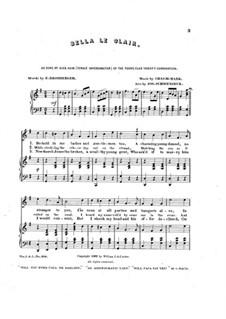 Bella le clair, for Voices and Piano: Bella le clair, for Voices and Piano by Charles W. Mark