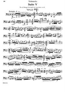 Сюита для виолончели No.5 до минор, BWV 1011: Для одного исполнителя by Иоганн Себастьян Бах