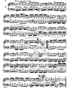 Шесть маленьких прелюдий, BWV 933-938: No.5, для фортепиано by Иоганн Себастьян Бах