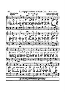 Наш Бог – могучая крепость: Для голосов by Мартин Лютер