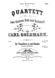 Струнный квартет си-бемоль мажор, Op.8: Партитура by Карл Голдмарк