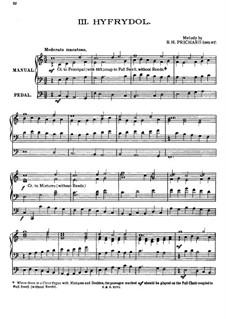Hyfrydol: Для органа by Rowland Huw Prichard