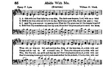 Пребудь со мной: Для хора и органа by Уильям Генри Монк