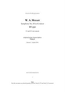 Фрагменты: Части I, IV, для фортепиано, tbpt41 by Вольфганг Амадей Моцарт