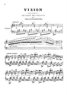 Видение: Для фортепиано by Тэкля Бондажевска-Барановска
