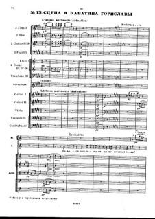 Каватина Гориславы: Для голоса с оркестром by Михаил Глинка