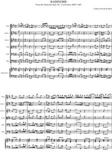 Сюита для оркестра No.2 си минор, BWV 1067: Шутка by Иоганн Себастьян Бах