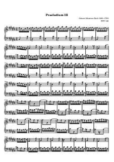 Прелюдия и фуга No.3 до-диез мажор, BWV 848: Прелюдия by Иоганн Себастьян Бах