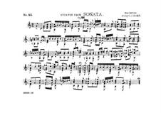 Соната для фортепиано No.12 ля-бемоль мажор, Op.26: Часть I. Анданте, для гитары by Людвиг ван Бетховен