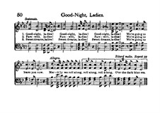 Goodnight, Ladies: Для смешанного хора by Edwin Pearce Christy