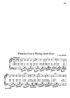 When the Corn is Waving Annie Dear: Соль мажор by Charles Blamphin