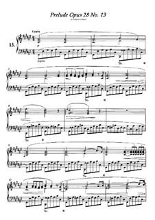No.13 фа-диез мажор: Для фортепиано by Фредерик Шопен