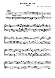 Соната для фортепиано No.2 си-бемоль минор, Op.35: Часть IV by Фредерик Шопен