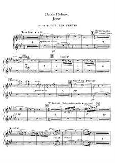 Игры, L.126: Партии флейт by Клод Дебюсси