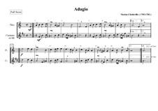 Адажио для флейты и кларнета: Адажио для флейты и кларнета by Nicolas Chédeville