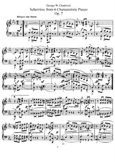 Шести характерных пьес, Op.7: No.3 Скерцино by Джордж Уайтфилд Чедуик