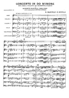 Концерт до-минор: Партитура by Бенедетто Марчелло