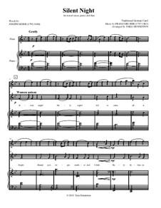 Тихая ночь (ноты для скачивания): Для флейты, смешанного хора и фортепиано – партитура by Франц Ксавьер Грубер
