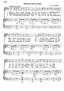 Darling Nelly Gray: Клавир с вокальной партией by Benjamin Russel Hanby