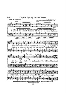 Day is Dying in the West: Для хора by William Fisk Sherwin