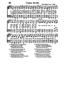 Yankee Doodle: Для хора (A Major) by folklore