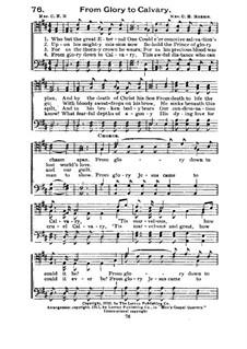 From Glory to Calvary: From Glory to Calvary by Lelia Naylor Morris