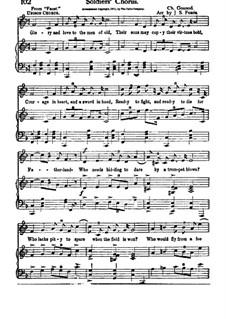 Фауст: Хор солдат, для голосов и фортепиано by Шарль Гуно