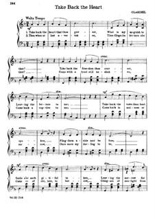 Take Back the Heart: Для хора (F Major) by Claribel