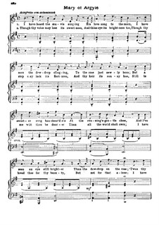 Mary of Argyle: Клавир с вокальной партией by Sydney Nelson