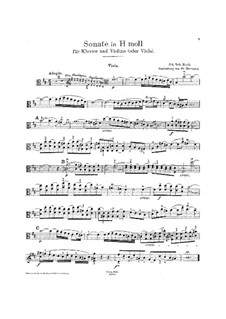 Шесть сонат для скрипки и клавира, BWV 1014-1019: Сольная партия by Иоганн Себастьян Бах