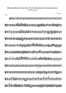 Бранденбургский концерт No.5 ре мажор, BWV 1050: Часть III – партия альта by Иоганн Себастьян Бах