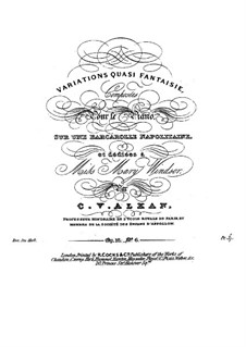 Вариации, Op.16: No.6 Variations quasi fantaisie by Шарль Валантен Алькан