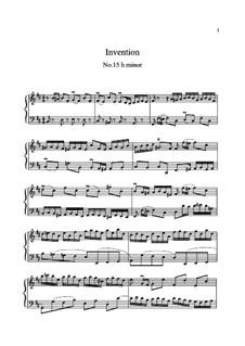 No.15 си минор, BWV 786: Для клавишного инструмента (ноты высокого качества) by Иоганн Себастьян Бах