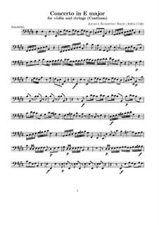 Концерт для скрипки, струнных и бассо континуо No.2 ми мажор, BWV 1042: Партия бассо континуо by Иоганн Себастьян Бах