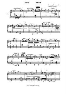 Этюд для фортепиано: Этюд для фортепиано by Владимир Полионный