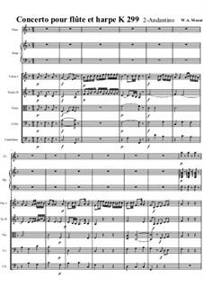 Концерт для флейты, арфы и орекстра до мажор, K.299: Часть II. Партитура by Вольфганг Амадей Моцарт