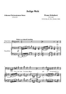 Selige Welt (Blessed World), D.743 Op.23 No.2: Клавир с вокальной партией by Франц Шуберт