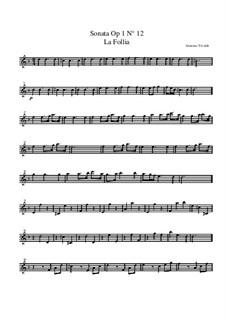 Трио-соната No.1 ре минор, RV 63 Op.1: Партия первой скрипки by Антонио Вивальди