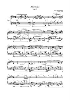 Две арабески, L.66: Арабеска No.1 (ноты высокого качества) by Клод Дебюсси
