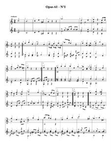 Три легких дуэта для двух гитар, Op.61: Дуэт No.1 by Фернандо Сор