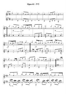 Три легких дуэта для двух гитар, Op.61: Дуэт No.3 by Фернандо Сор