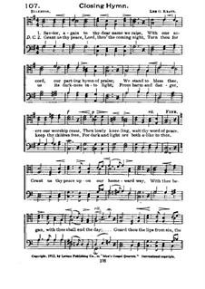 Closing Hymn: Closing Hymn by Lee G. Kratz