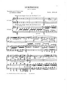 Симфония до мажор: Часть I, для двух фортепиано в 4 руки by Поль Дюка